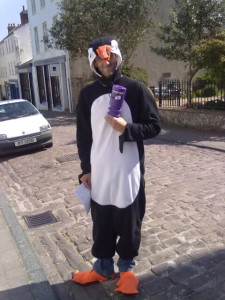 Tim taking the new term of 'Puffinologist' a bit too far!