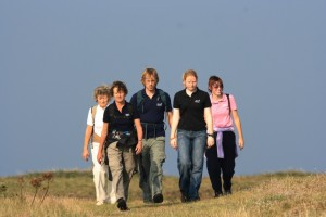 Taking part in a 50km fundraising walk around Alderney