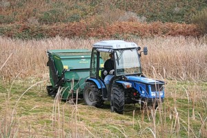 Roland out on the tractor