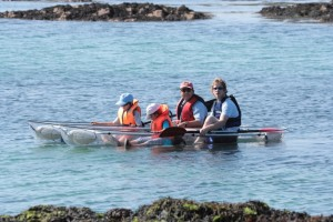 Taking a family out to in our glass kayaks makes looking at the fishes much easier