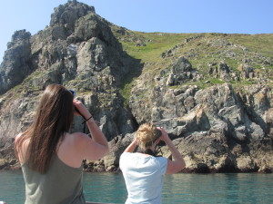 Aurelie and Vicky look for shag nests