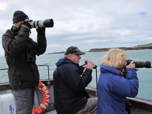 A boat tour is a great time to take photos of the puffins