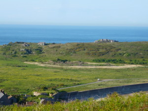 Longis pond is located in a bowl at the base of the reserve, surrounded by higher ground with scrub and gorse habitat