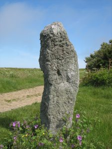 An ancient standing stone in Alderney